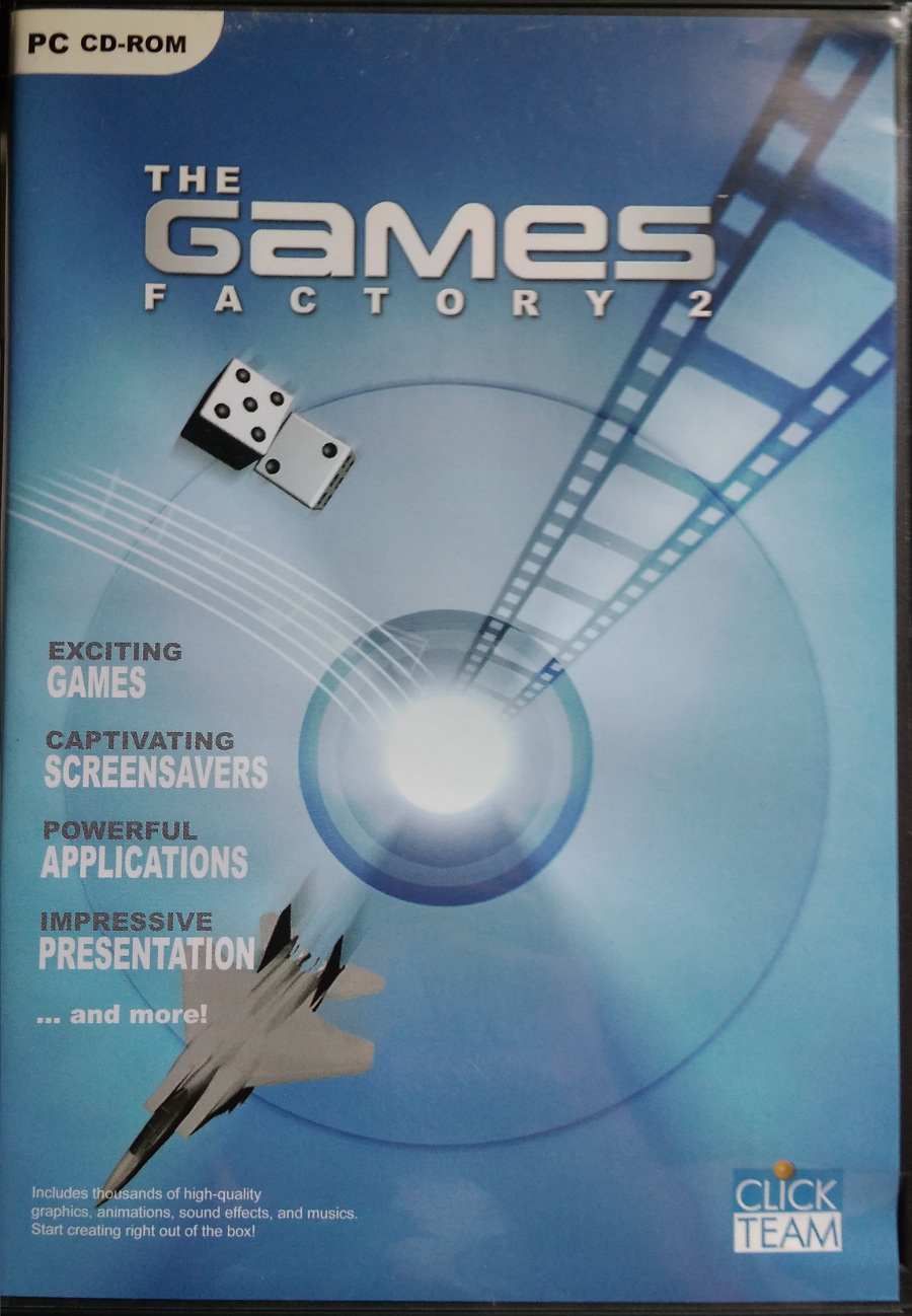 The front cover of The Games Factory 2 disc set.